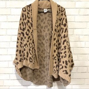 Anthropologie Oversized Leopard Sweater Wrap